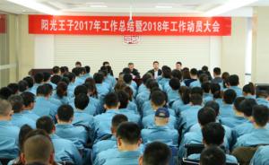 阳光王子召开2017年工作总结暨2018年工作动员大会