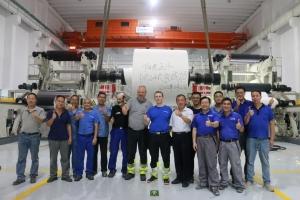 阳光王子年产6.5万吨装饰原纸项目 一次性试产成功